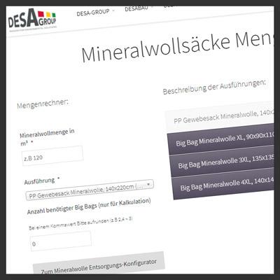 Mineralwollsaecke Mengenrechner